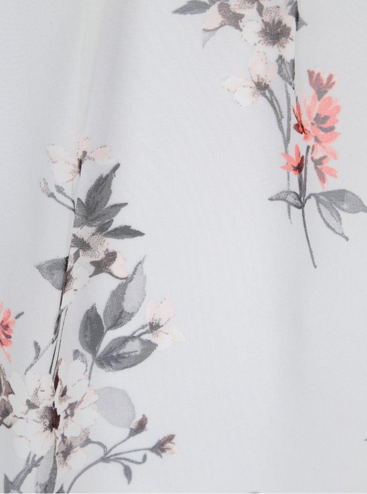 Světle šedá květovaná halenka Billie & Blossom Curve