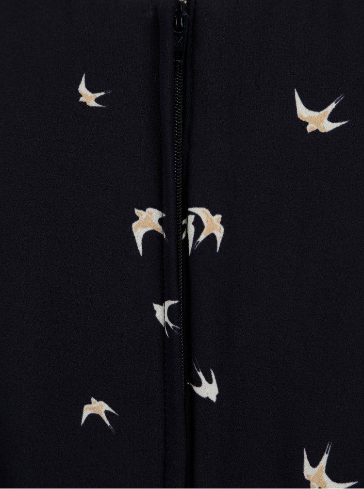 Tmavě modré vzorované šaty Billie & Blossom