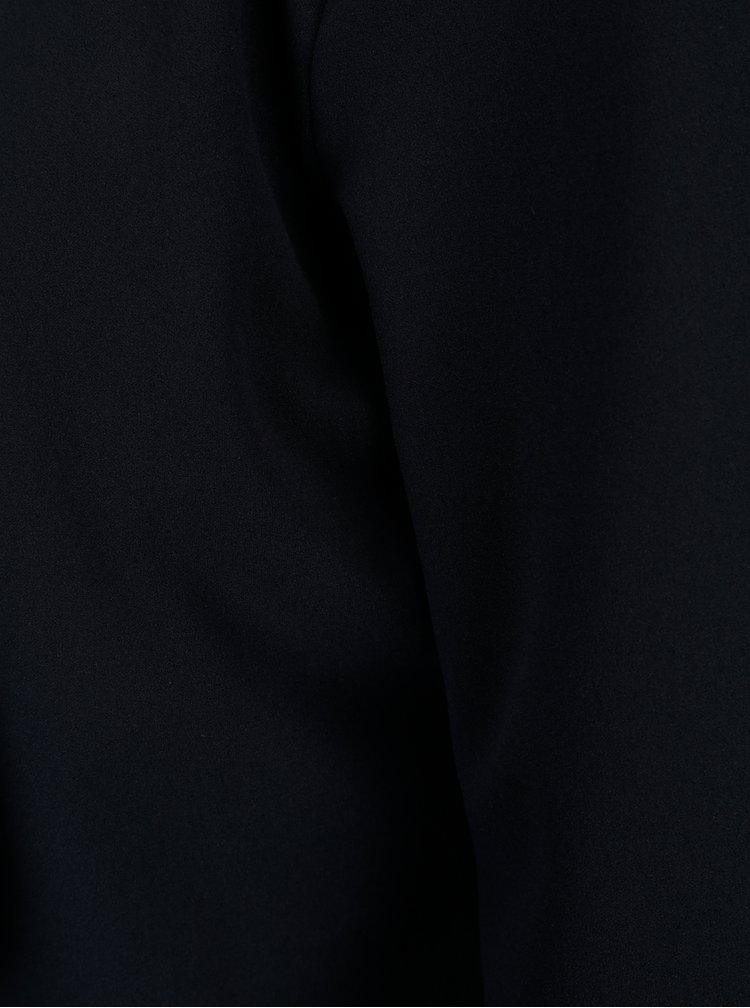 Tmavě modré krátké sako s vzorovanou podšívkou ONLY Carolina