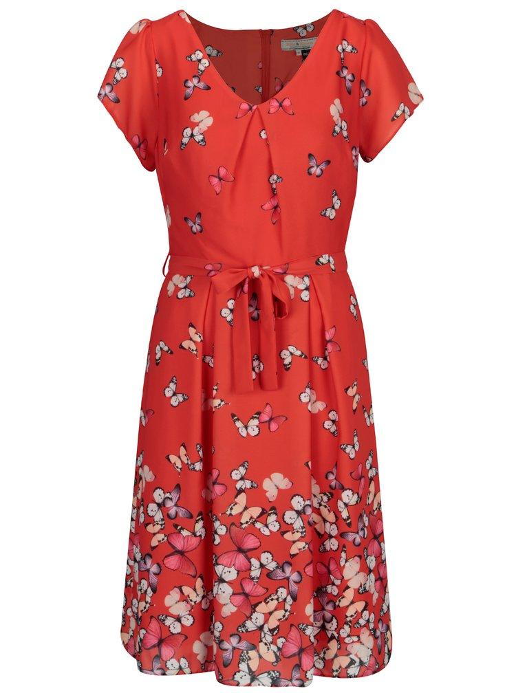 Červené vzorované šaty Billie & Blossom