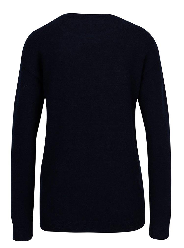 Tmavě modrý svetr s výšivkou Dorothy Perkins