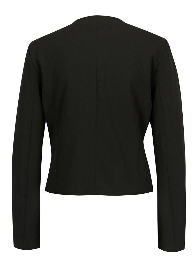 Černé krátké sako s vzorovanou podšívkou ONLY Carolina