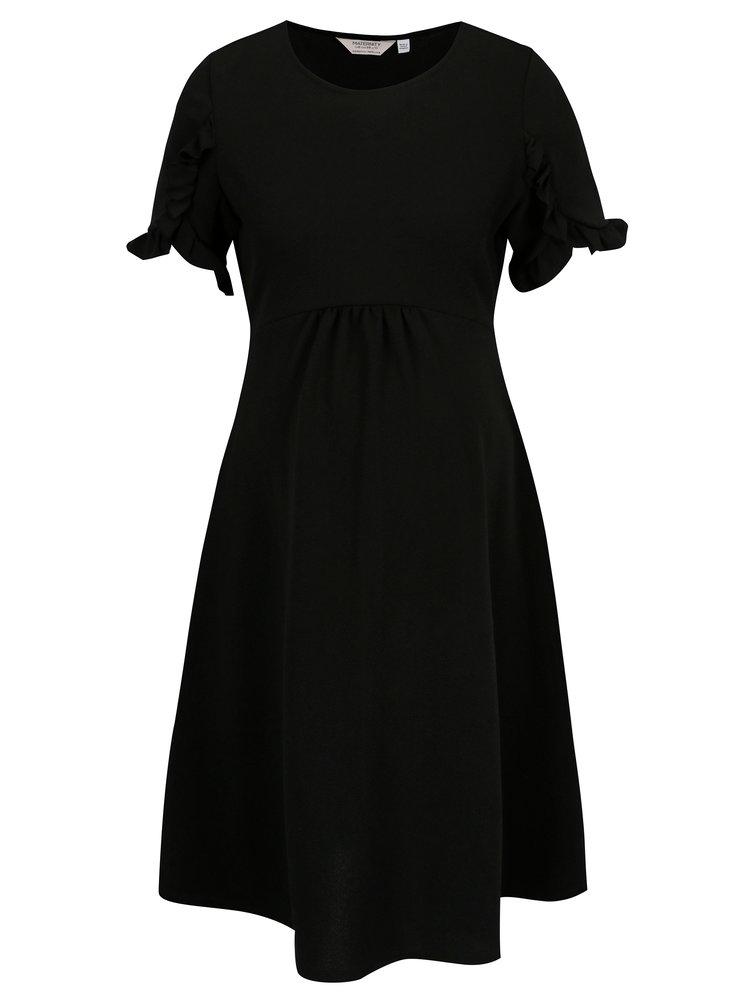 Černé těhotenské šaty s volány Dorothy Perkins Maternity