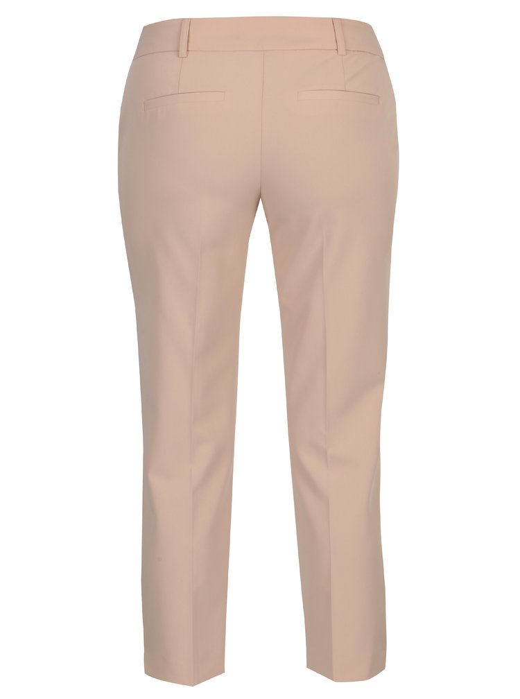 Starorůžové zkrácené kalhoty s nízkým pasem Dorothy Perkins