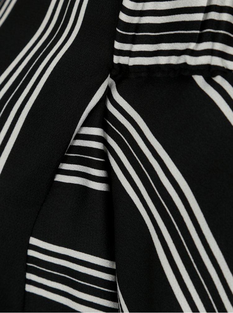 Černá pruhovaná halenka s odhalenými rameny Dorothy Perkins