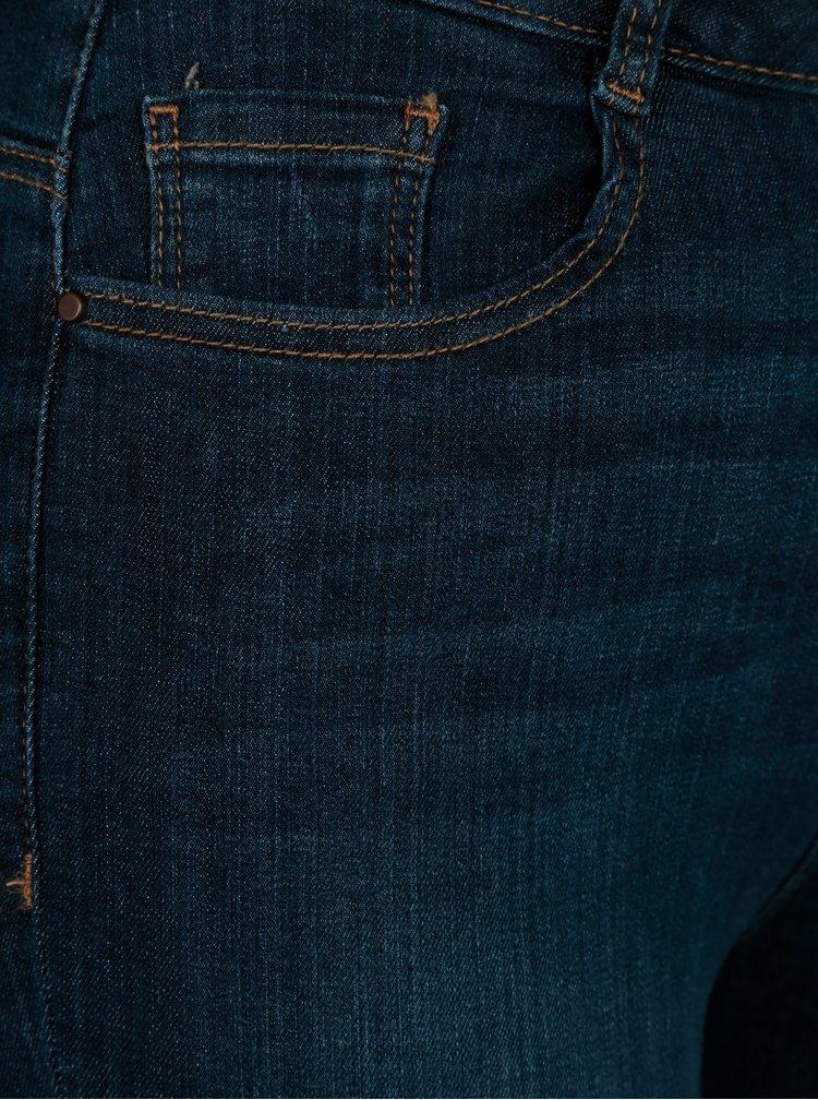 Modré regular džíny s vysokým pasem Dorothy Perkins