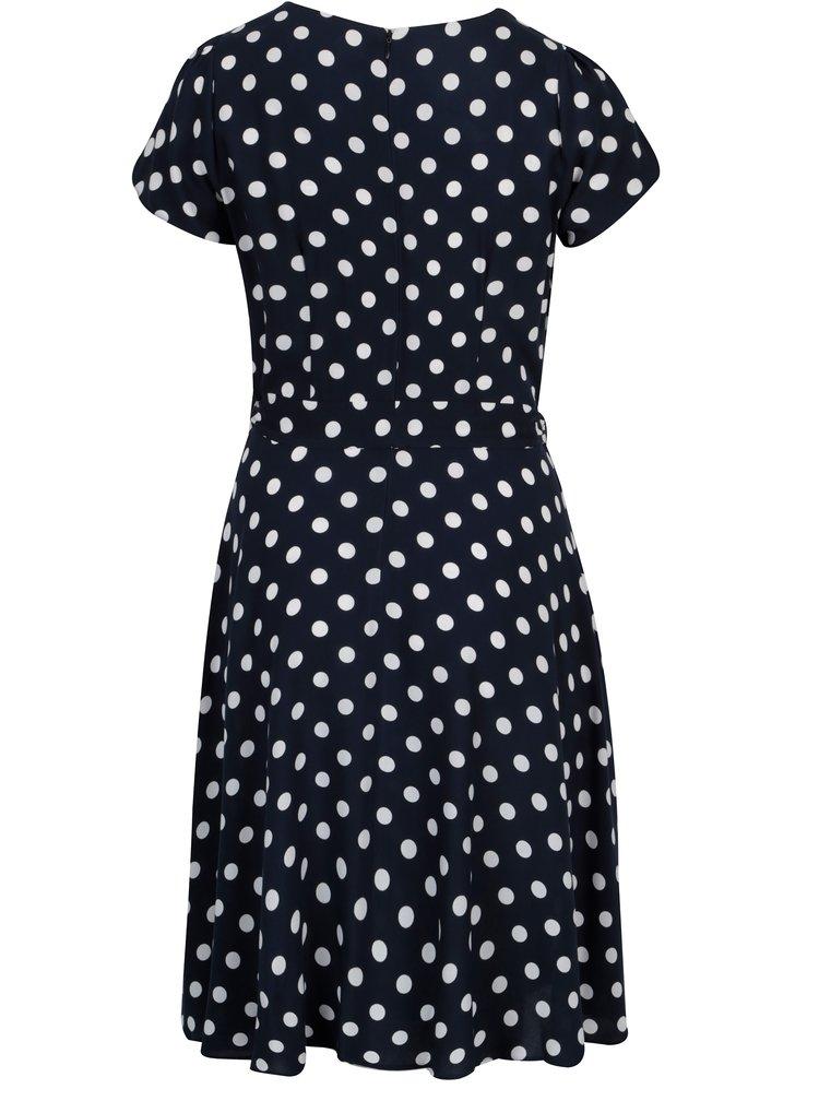 Tmavě modré puntíkované šaty Billie & Blossom Curve