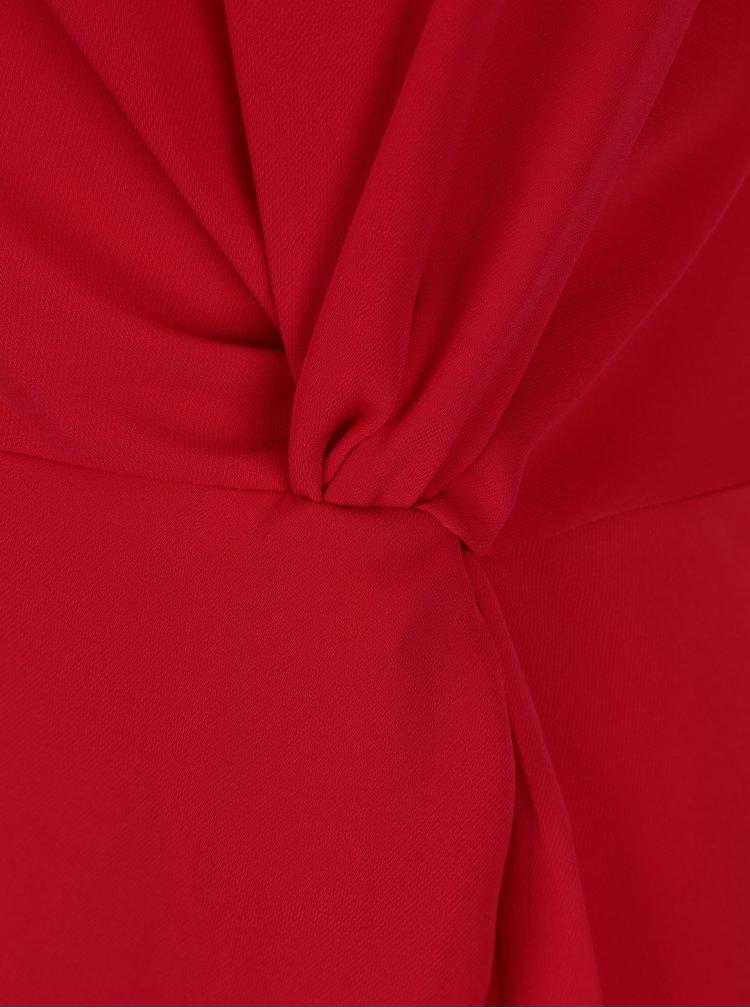 Červená halenka s ozdobným uzlem Dorothy Perkins