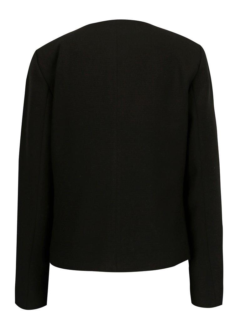 Černé sako s vzorovanou podšívkou ONLY Cafe