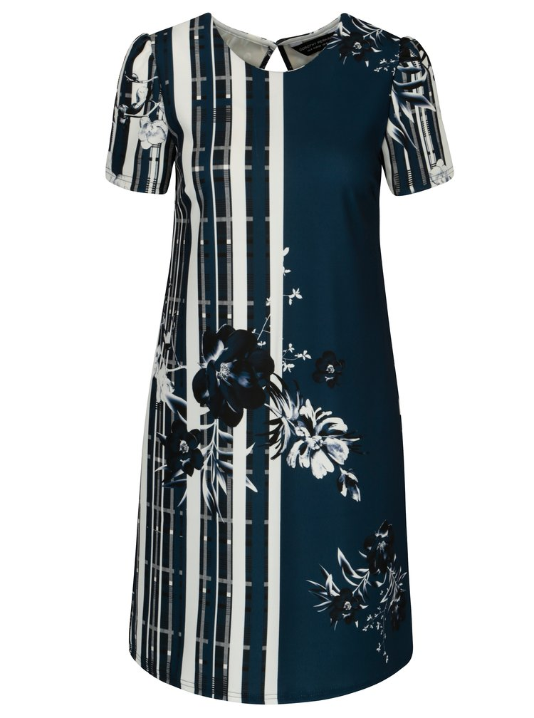 Bílo-modré květované šaty Dorothy Perkins