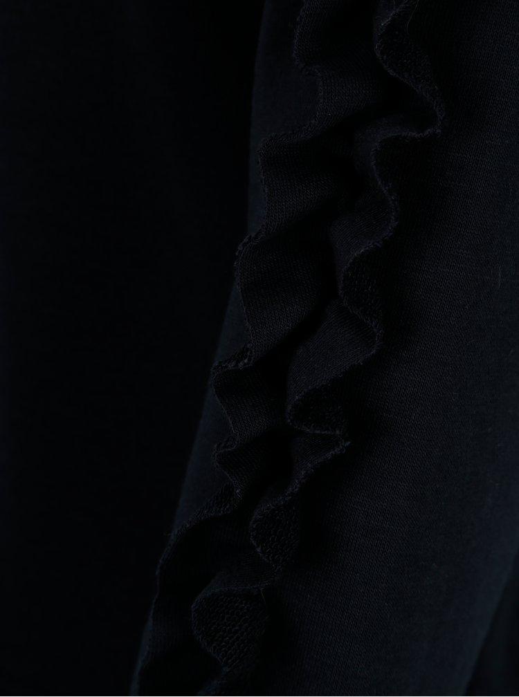 Tmavě modrá mikina s všitou košilí ONLY Sunny
