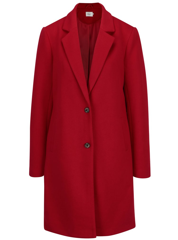 Červený lehký kabát ONLY Carrie