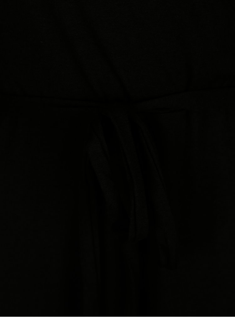 Černé šaty s překládaným výstřihem Dorothy Perkins