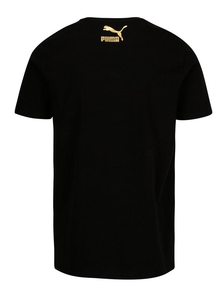 Tricou negru cu print siret pentru barbati Puma