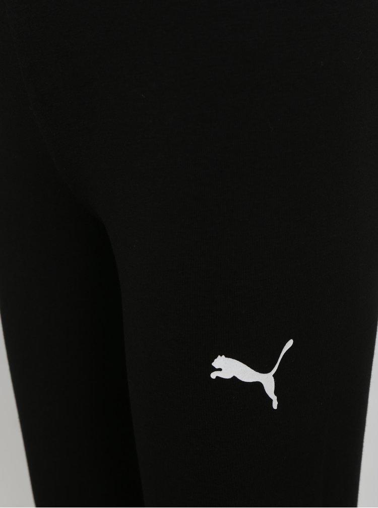Čierne dievčenské legíny s potlačou Puma