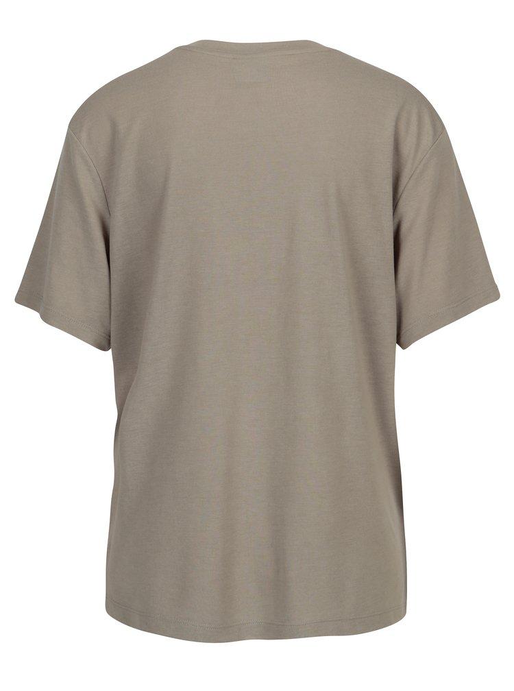 Sivé dámske tričko s potlačou Puma