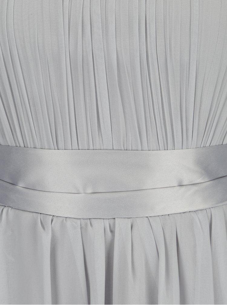 Světle šedé asymetrické maxišaty Dorothy Perkins