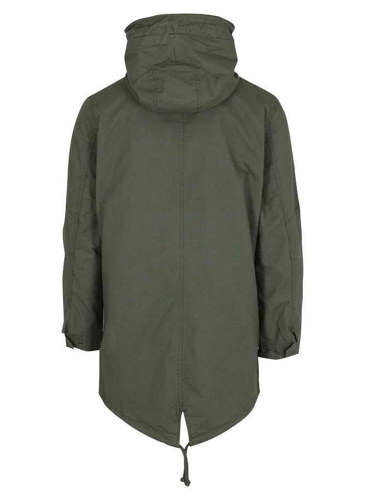 Zelená parka s kapucí Jack & Jones New Bento