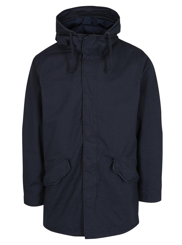 Tmavě modrá parka s kapucí Jack & Jones New Bento