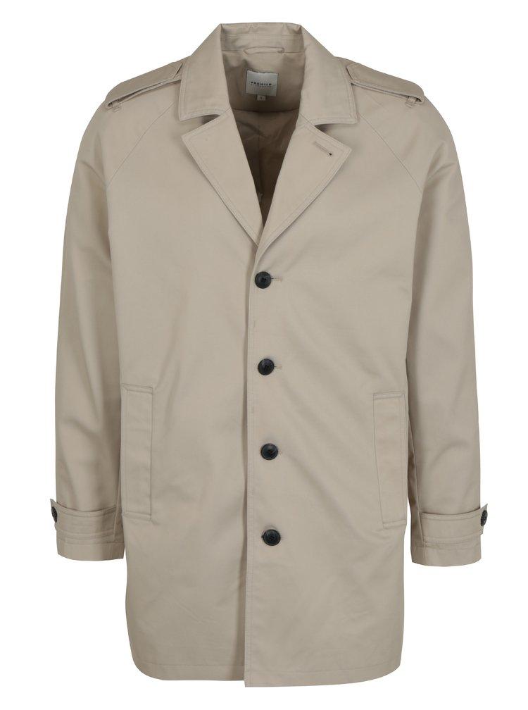 Béžový kabát s kapsami Jack & Jones New David