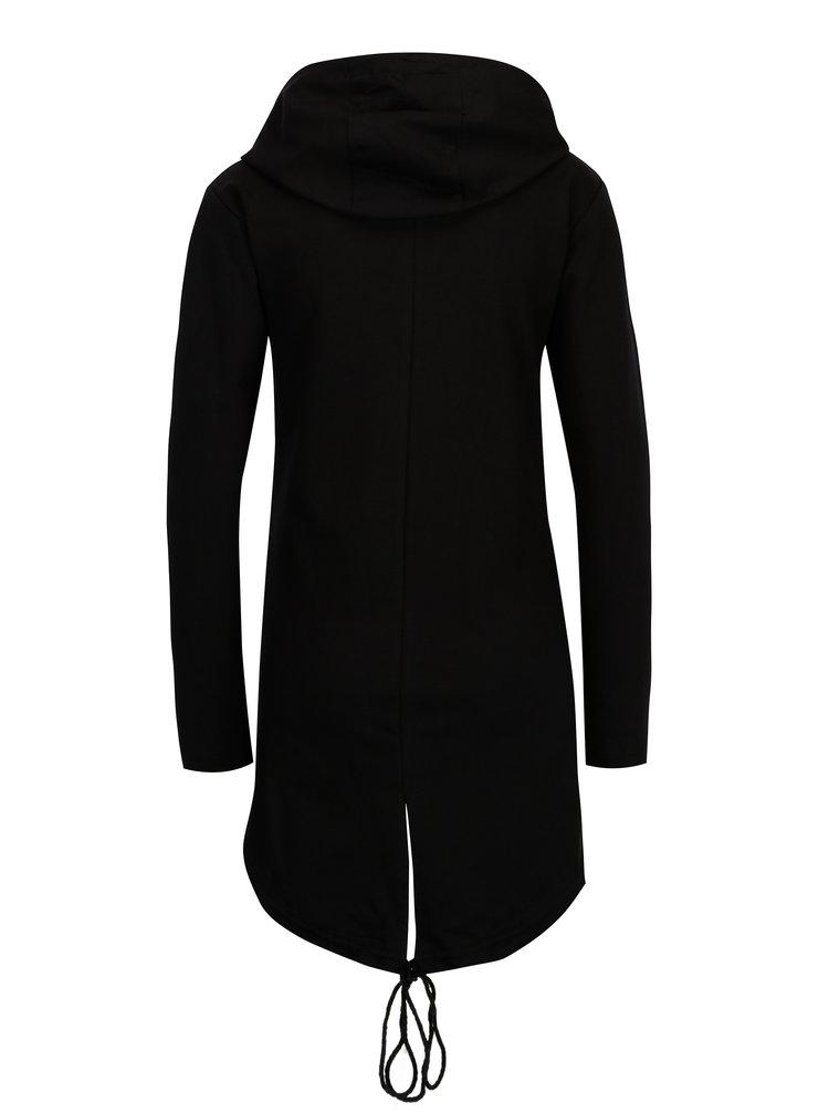 Černá dlouhá mikina s kapucí Madonna