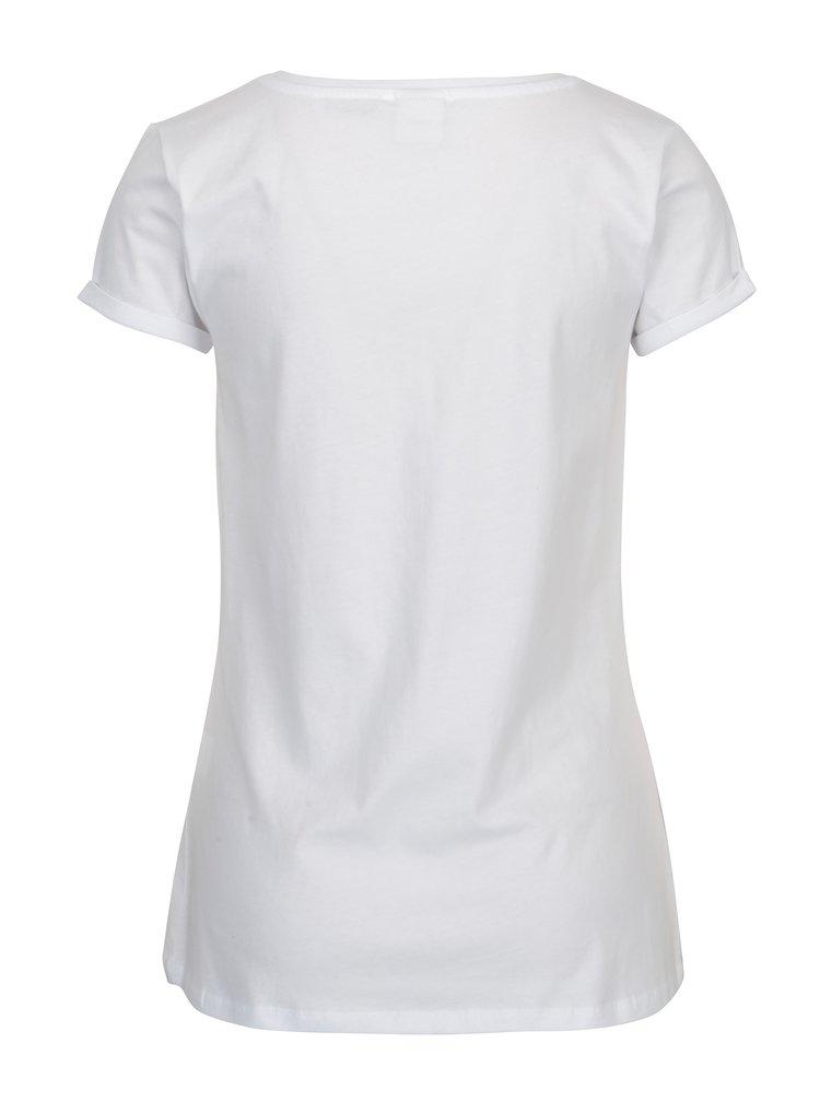 Bílé tričko s potiskem Haily's Mickey