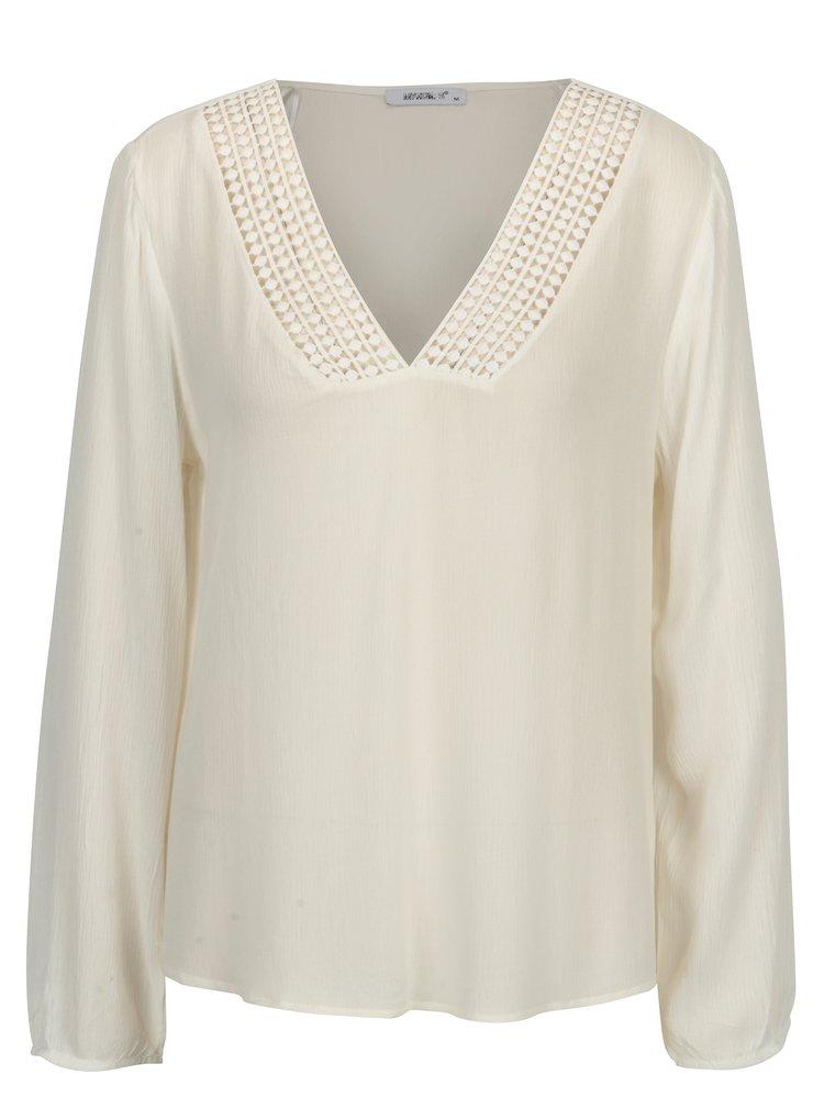 Bluza crem translucida cu model decorativ - Haily's Cathy