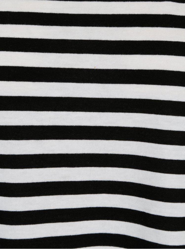 Tricou oversized negru in dungi VILA Dreamers