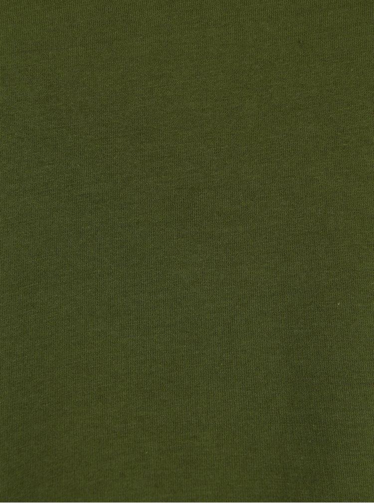 Tmavě zelené oversized tričko VILA Dreamers