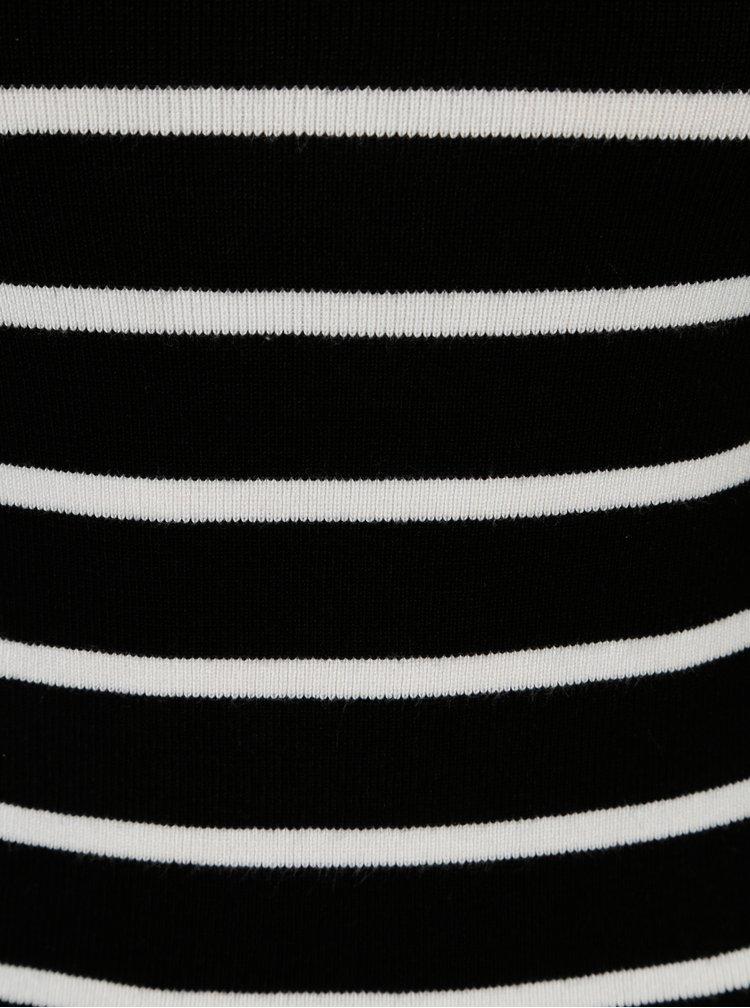 Černý pruhovaný lehký svetr Haily's Lina