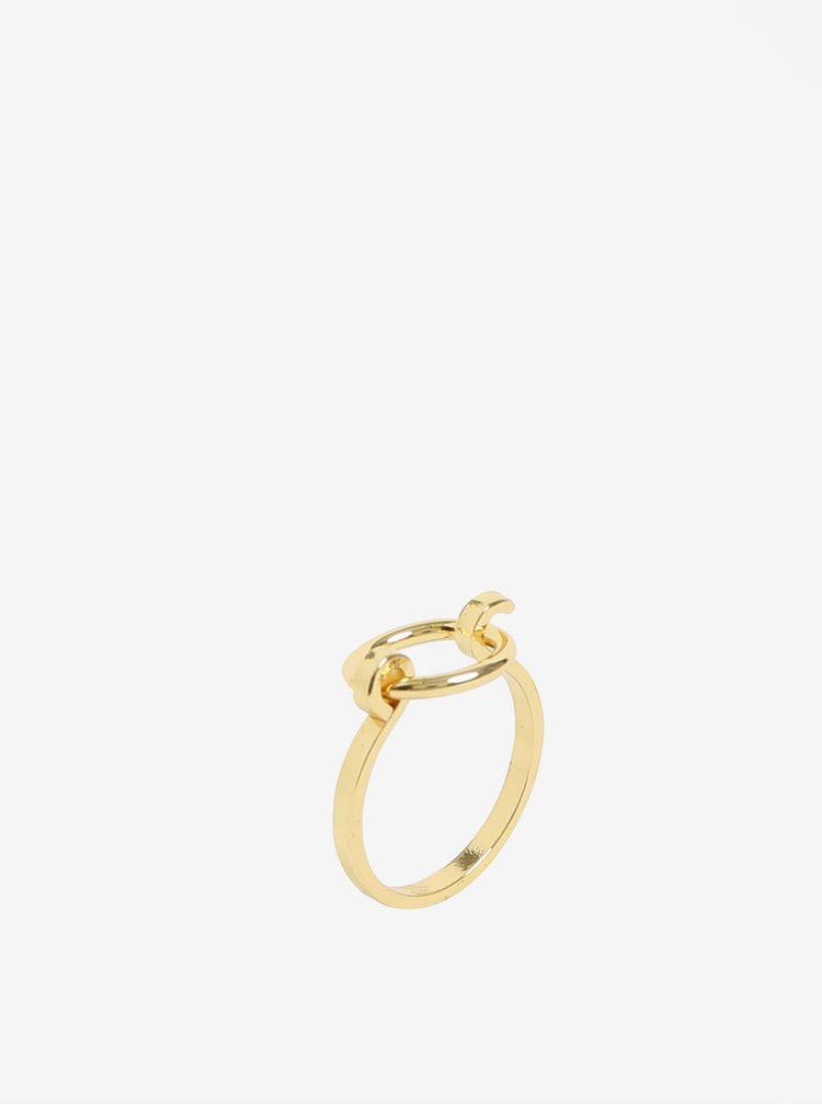 Sada tří prstýnků ve zlaté barvě Pieces Martha