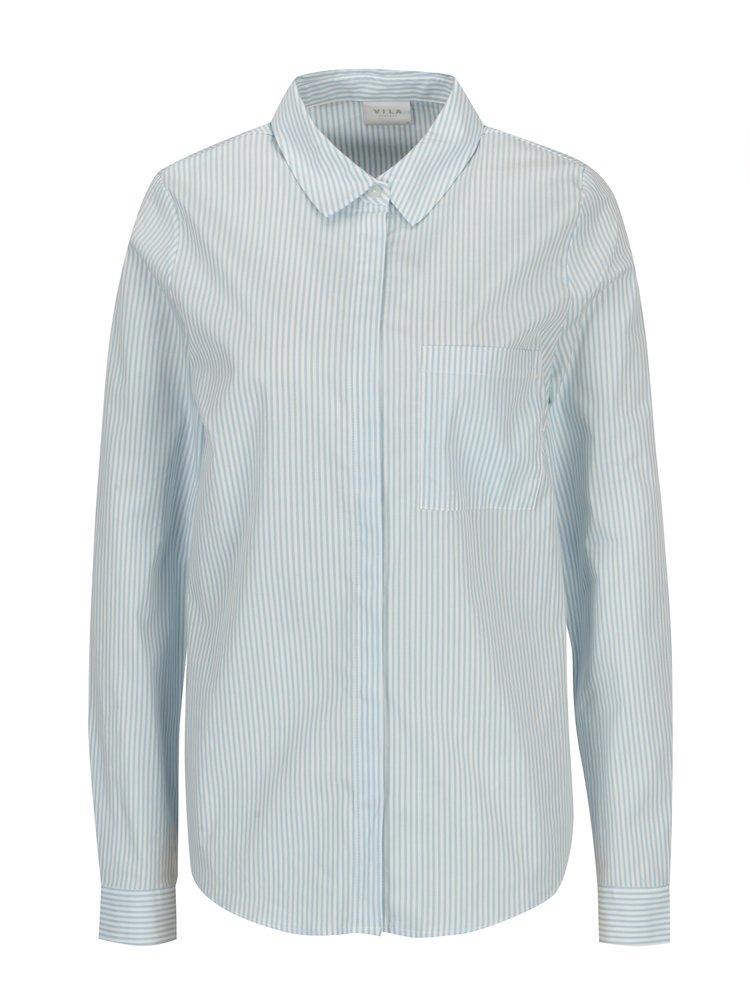 Modro-krémová pruhovaná košile VILA Chau