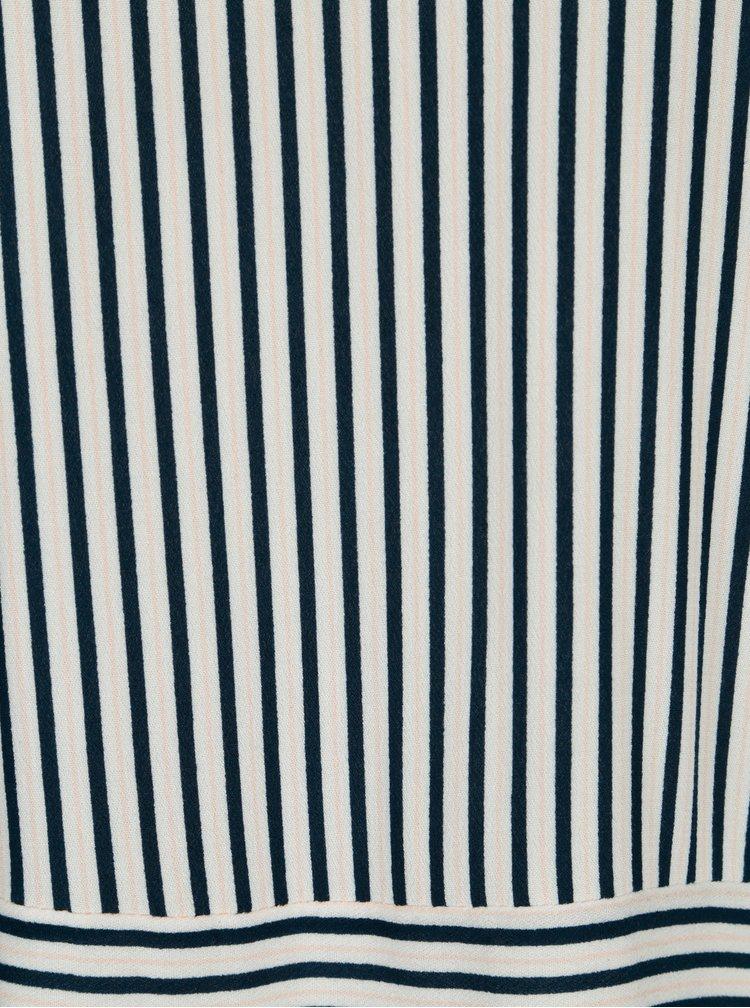 Modro-krémová pruhovaná halenka VILA Linetta