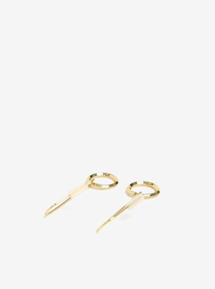 Náušnice ve zlaté barvě Pieces Martha