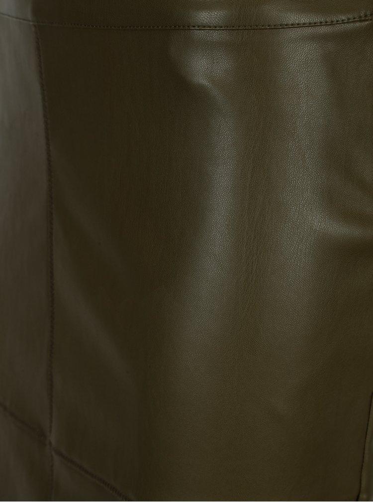 Fusta verde din piele sintetica VILA Pen New