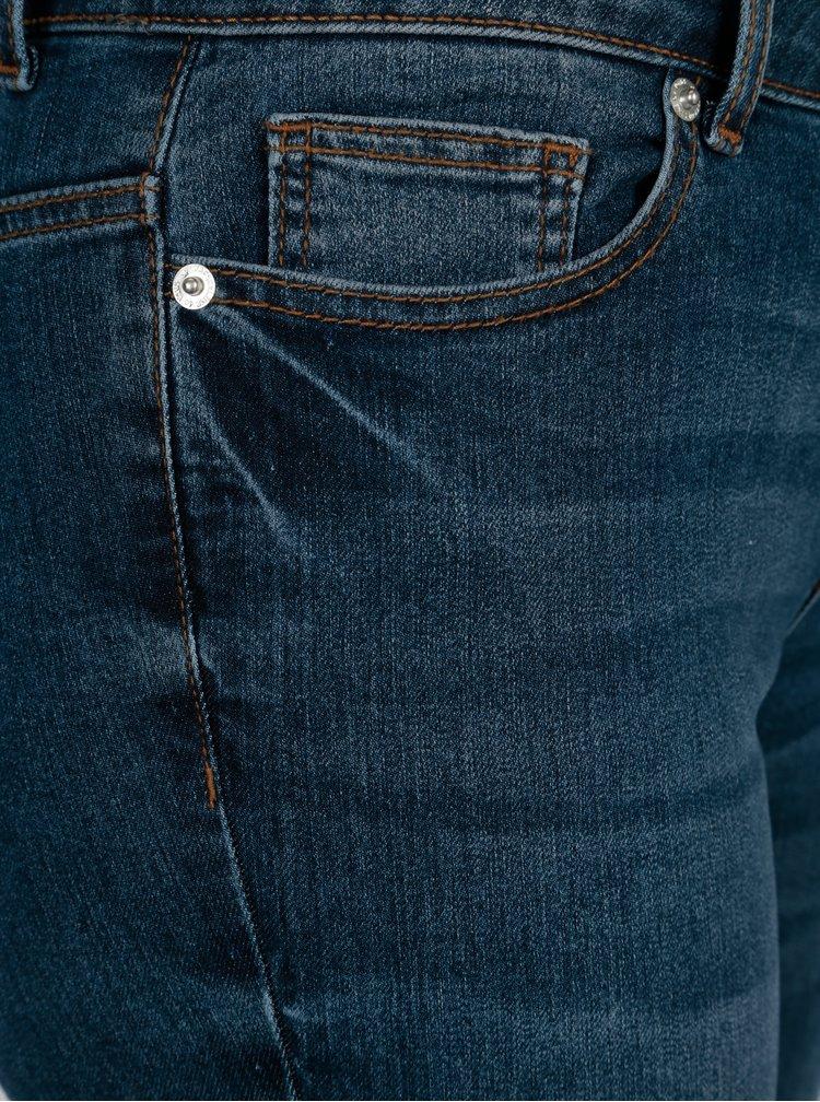 Blugi albastri skinny cu terminatie nefinisata Jacqueline de Yong