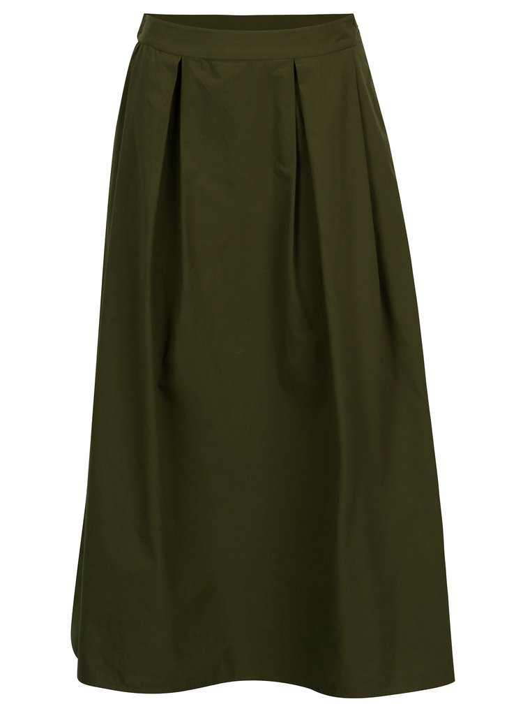 Zelená midi sukně VILA Raja