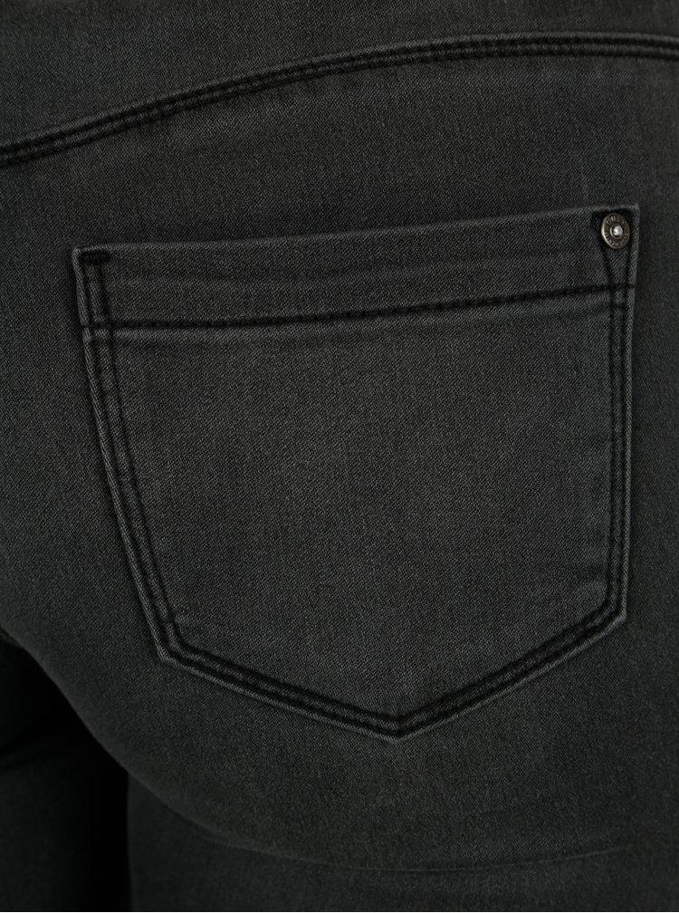 Tmavě šedé skinny fit regular džíny ONLY Ultimate King