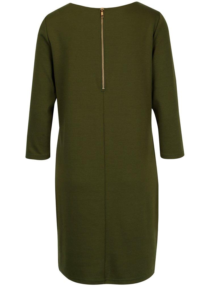 Zelené šaty s 3/4 rukávem VILA Tinny