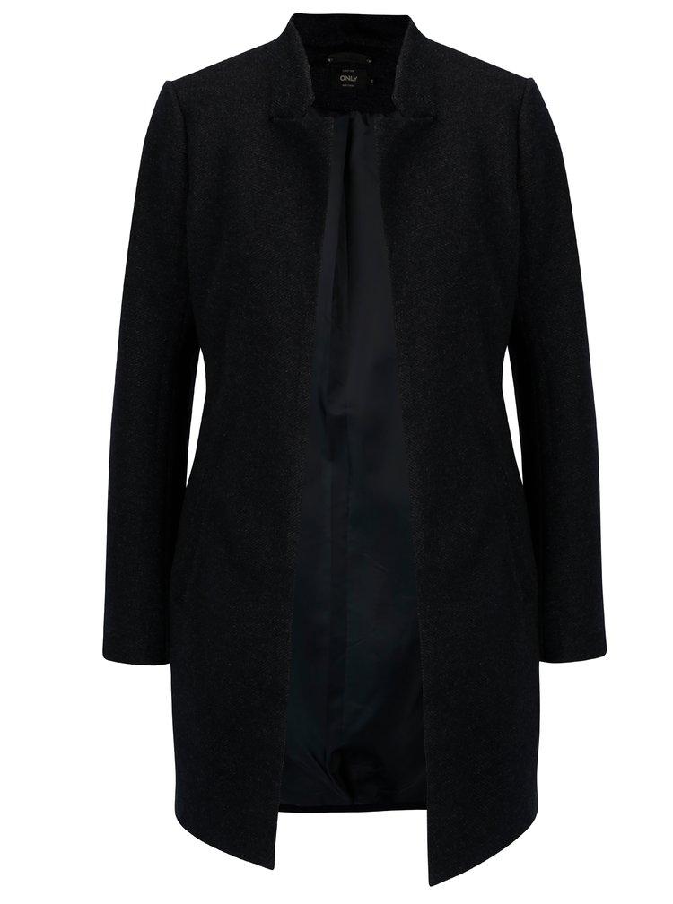 Tmavě modrý žíhaný lehký kabát Only Soho