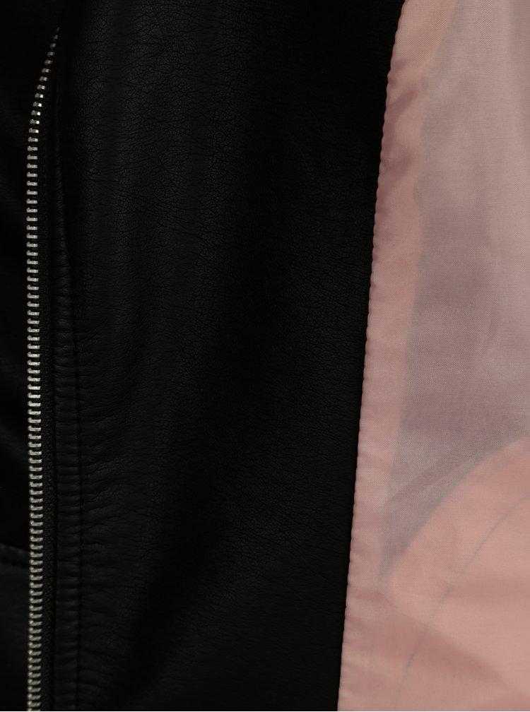 Černý koženkový křivák ONLY Gemma