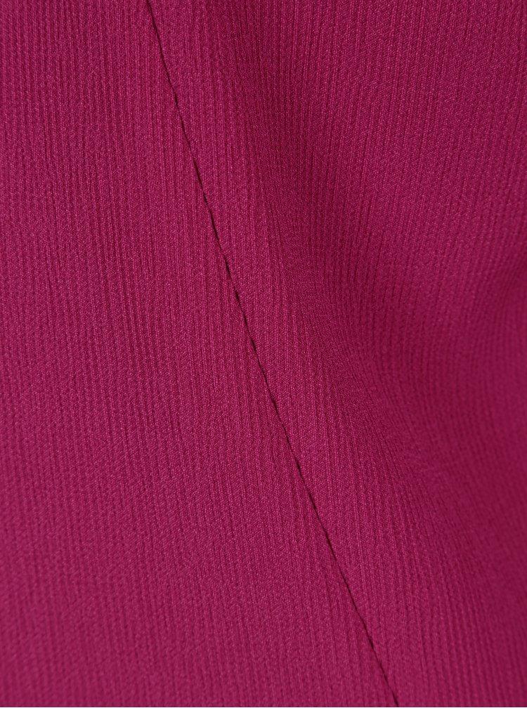 Tmavě růžové žebrované sako VILA Asja