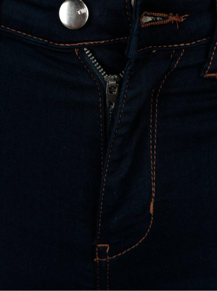 Tmavě modré skinny džíny s vysokým pasem TALLY WEiJL