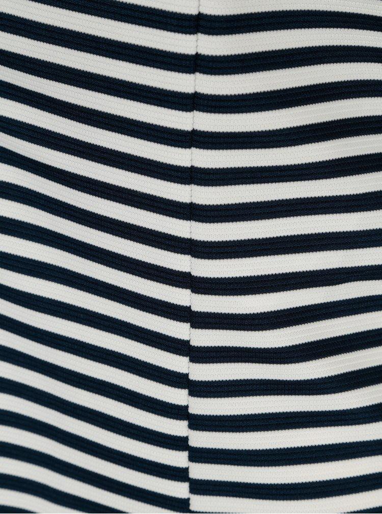 Modro-krémové pruhované lehké sako VILA True