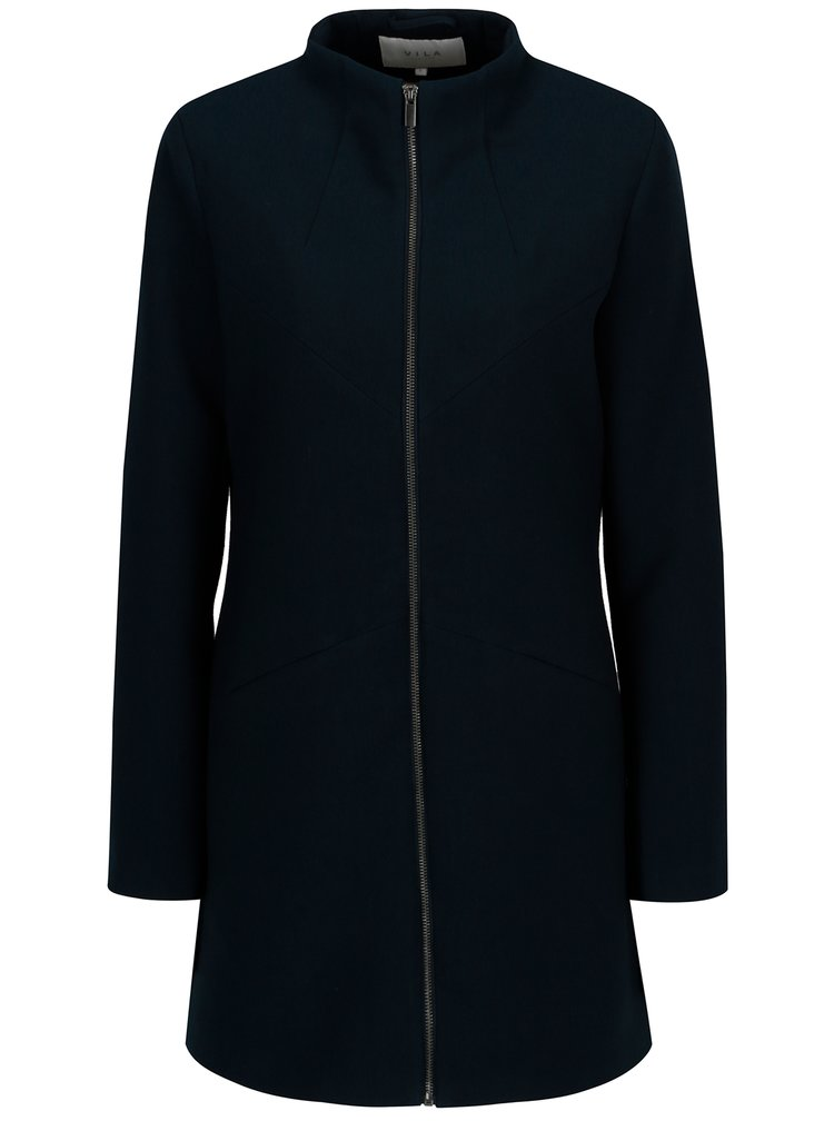 Tmavě modrý kabát VILA Mali