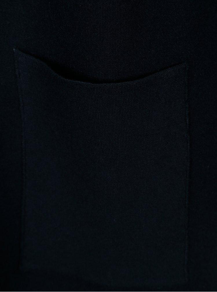 Tmavě modrý kardigan s kapucí VILA Olivina