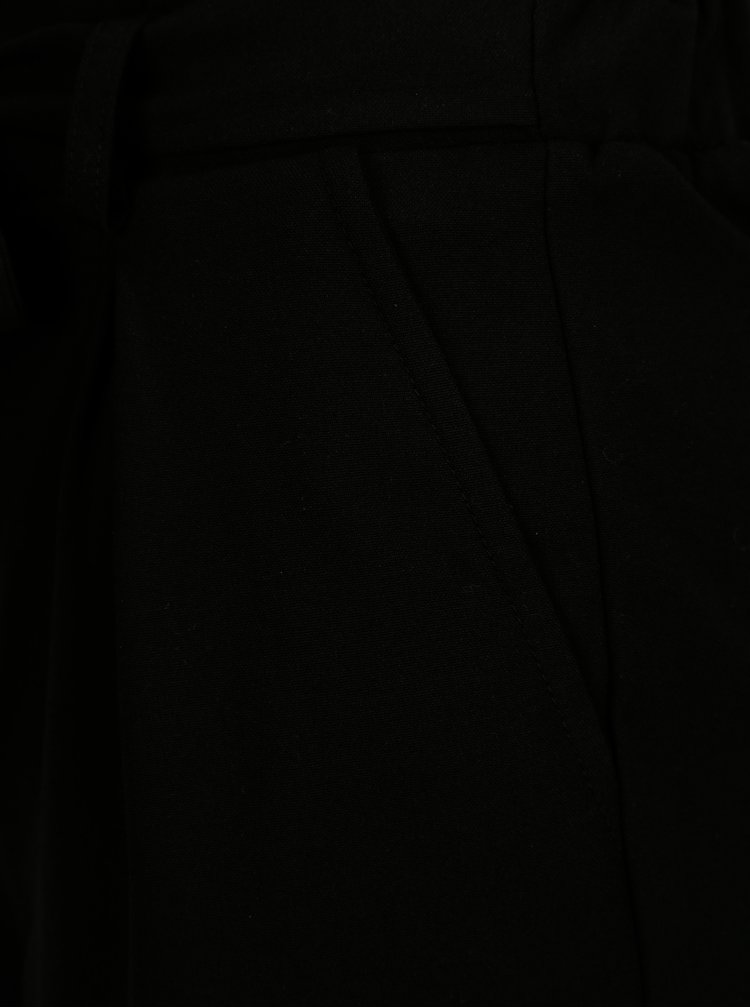 Černé kraťasy se zavazováním v pase TALLY WEiJL
