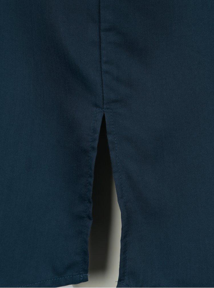 Camasa lunga bleumarin cu cordon Selected Femme Leonora