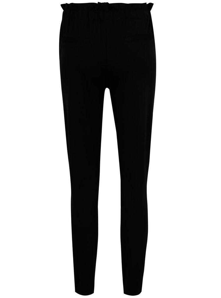 Černé kalhoty s pružným pasem VILA Freda