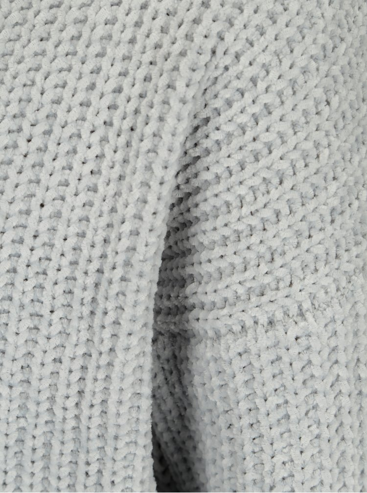 Světle šedý krátký svetr TALLY WEiJL